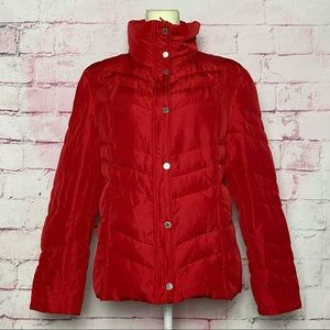 KENNETH COLE REACTION Red DuckDown Puffer Jacket